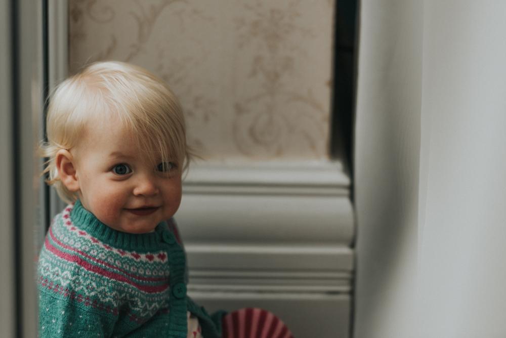 baby portrait in window